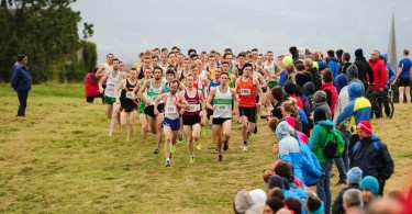 18 October 2014: The start  of the Open 8km race, xxx during the 2014 Autumn Open Cross Country. Magazine Fort, Phoenix Park, Dublin. Picture Credit: Tomás Greally
