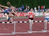 Kate Humphries in 300m hurdles