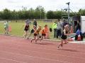 Andrea Bickerdike at start of women\'s 800m
