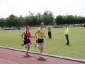 Michael Herlihy leads eventual winner Seán McGrath in 5000m