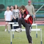 Hurdles drills with James McGee