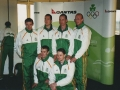 4x100m squad - picture taken at Heathrow Airport