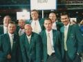 Group shot of Irish athletes during Olympic opening cermony